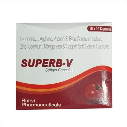 Lycopene L-Arginine Vitamin E Beta Carotene Lutein Zinc Selenium Manganese And Copper Soft Gelatin Capsules