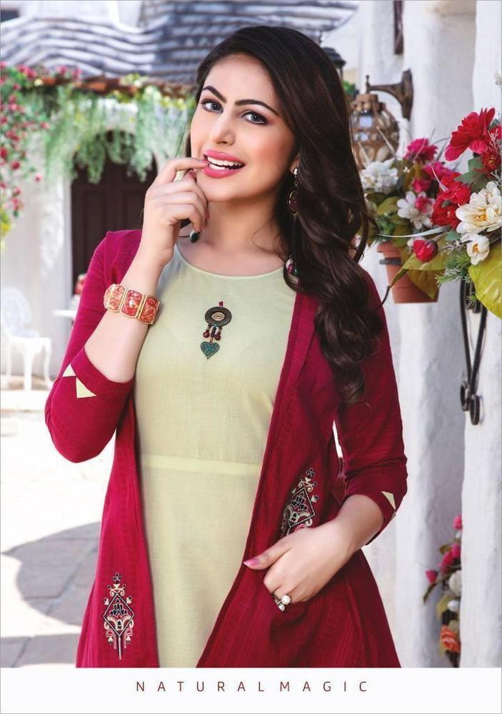 Fancy Kurti With Jacket