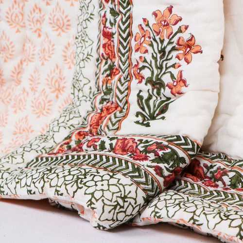 Hand Block Printed Cotton Quilt