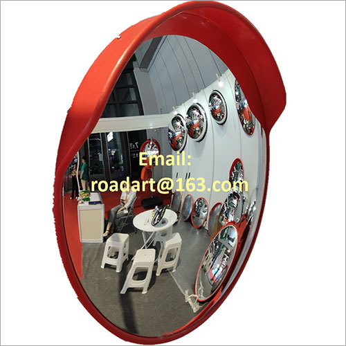 Traffic Safety Convex Mirror with Orange Mirror Back and Cap