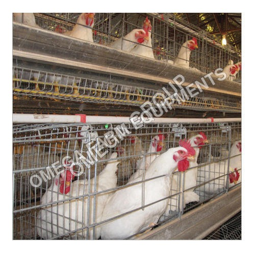 Chicken Birds Silver Two Tier Layer Breeder Cage