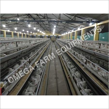 Silver Mild Steel Chicken Cage