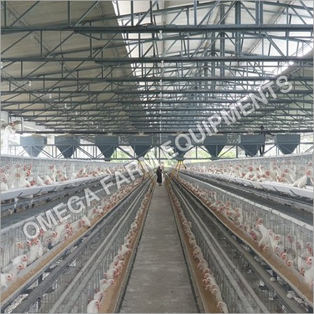 Silver Poultry Cage
