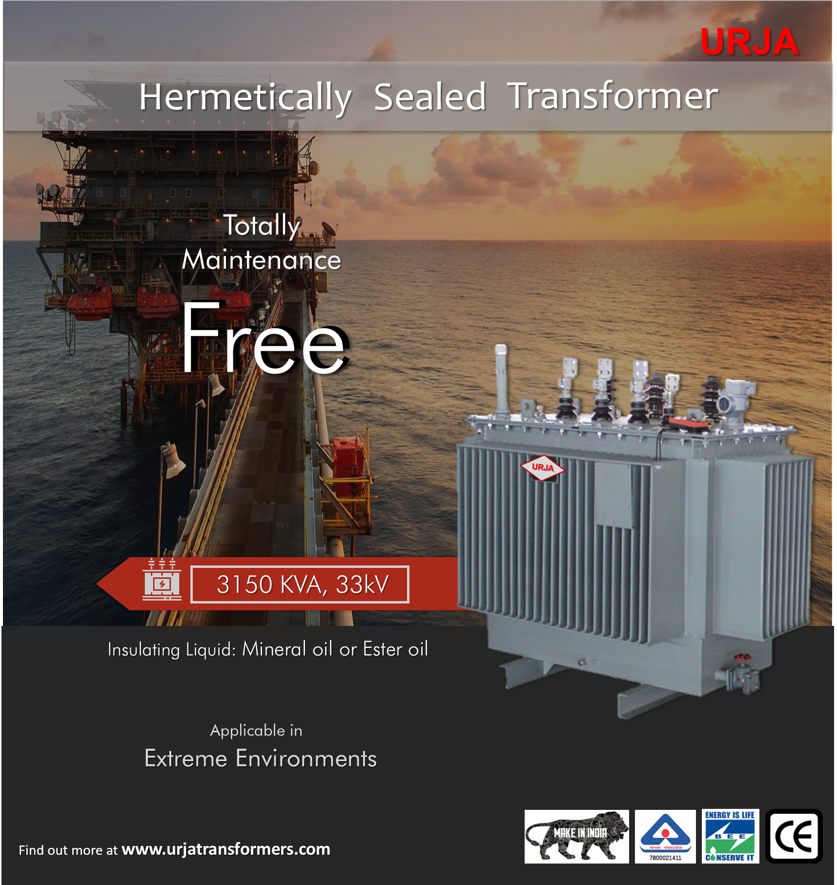 Hermetically Sealed Transformer