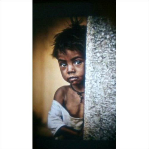 Indian Child Handmade Oil Painting