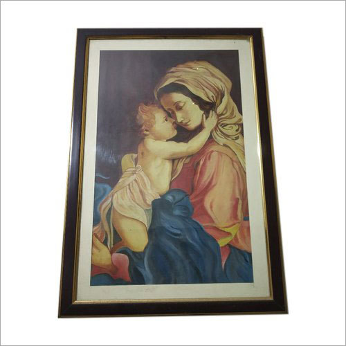 Mother Child Handmade Canvas Oil Painting
