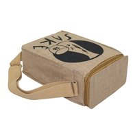 Pp Laminated Jute Cooler Bag With Inside Insulator Lined & Web Handle