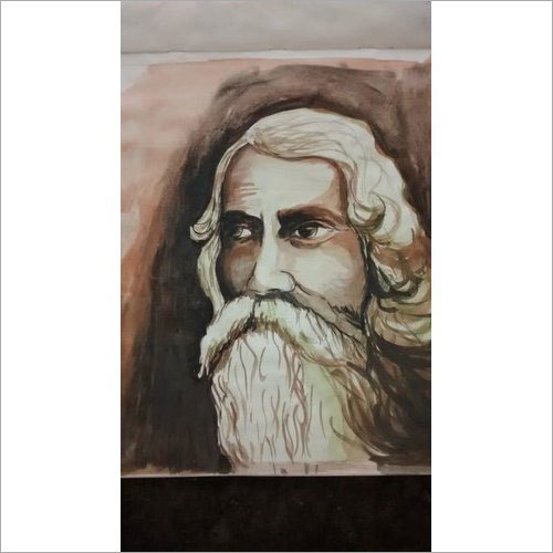 Rabindranath Tagore Water Color Handmade Painting