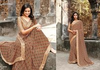 Satin Border Saree