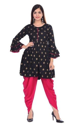 KASHISHIYA  Women Kurti With Dhoti Pant