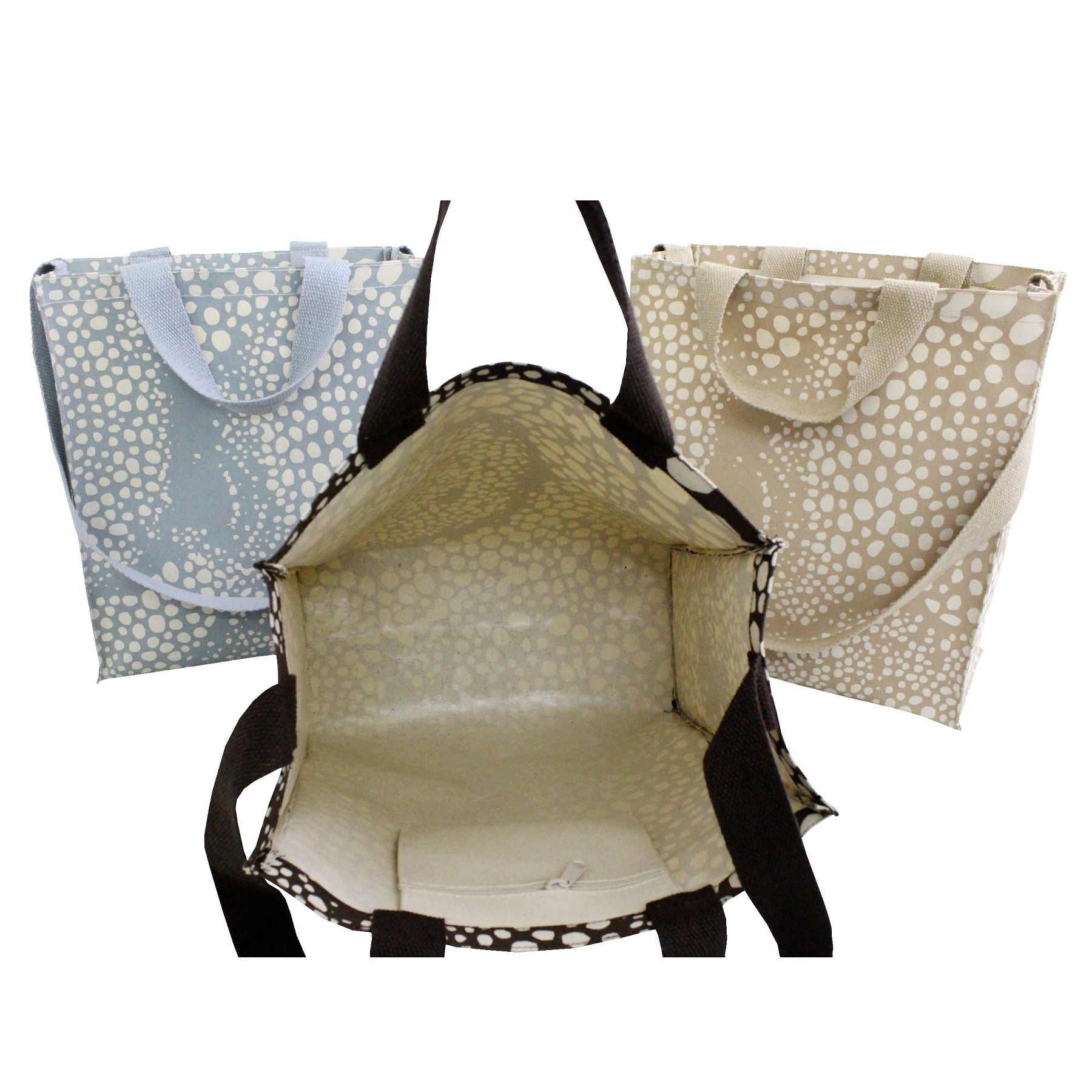 10 Oz PP Laminated Canvas Tote Bag With Short & Long Handle