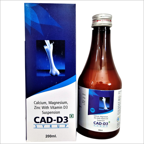 200 ml Calcium Magnesium Zine With Vitamin D3 Suspension
