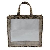 PP Laminated Jute Window Bag With Jute Handle
