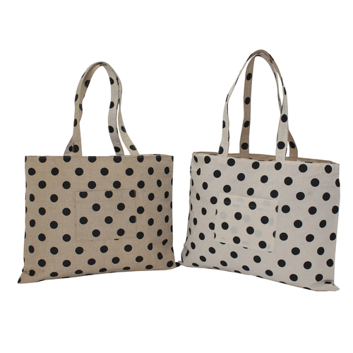 Juco / 150 Gsm Natural Cotton Reversible Bag & One Color Print