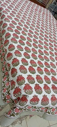 Hand Block Printed Cotton Table Cover