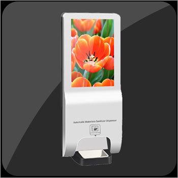 Display With Hand Sanitizing Dispenser