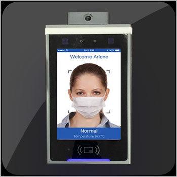 Face Recognition Plus Temperature Detection Display