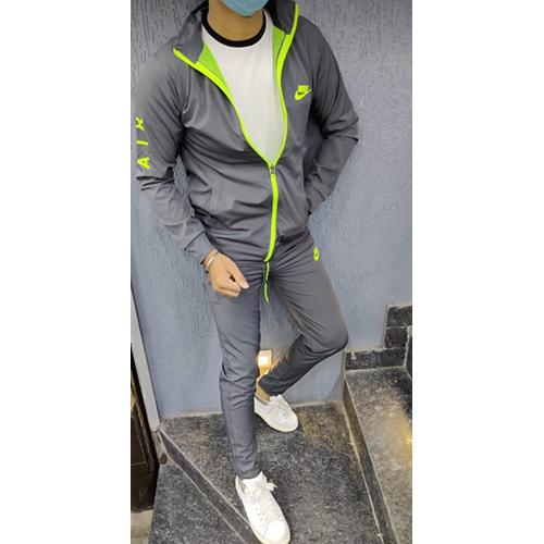 Grey Colour Men Track Suit