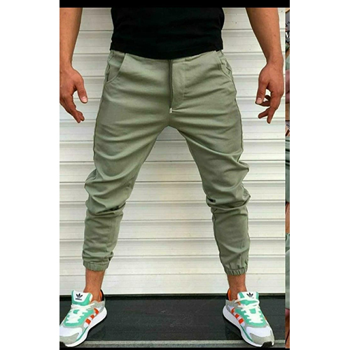 Green Colour Men Joggers Pant