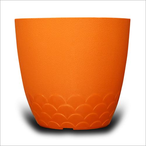 Orange Flora Pot