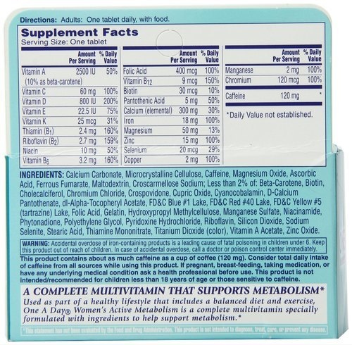 One A Day Womens Active Metabolism Tablets