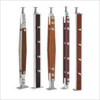 Stainless Steel And Wooden Railing Baluster