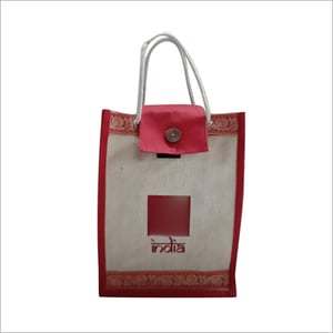 Promotional Jute Bag With Over Lock