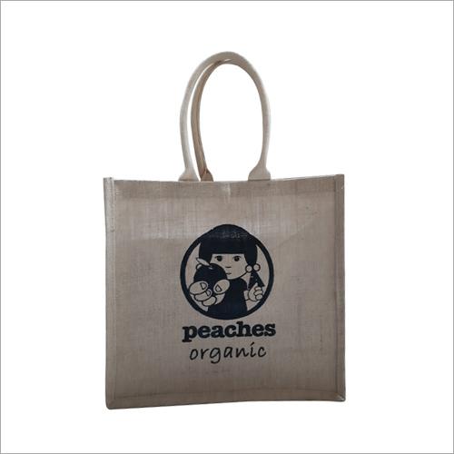 Printed Jute Shopping Bag