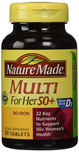 Nature Made Multi For Her 50 Plus No Iron 90 Tablets