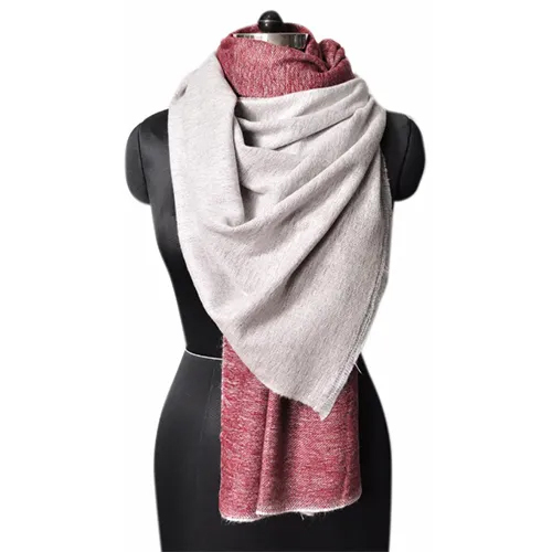 Acrylic Poly Cotton Reversible Stole