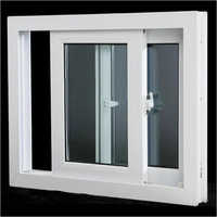 White UPVC Sliding Window