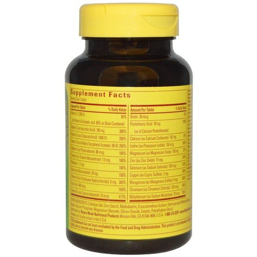 Nature Made Multi For Him 50 Plus No Iron Tablets