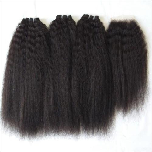 Kinky Straight Natural Color Hair