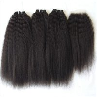 Kinky Straight Natural Color Hair