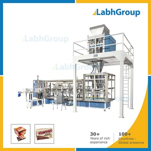 Lined Carton Packing Machine For Biscuit Nuts Chocolates
