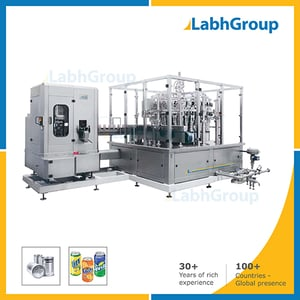 Metal Can Filling And Seaming Machine