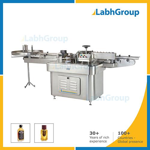 Paper Labeling Machine For Flat Bottles
