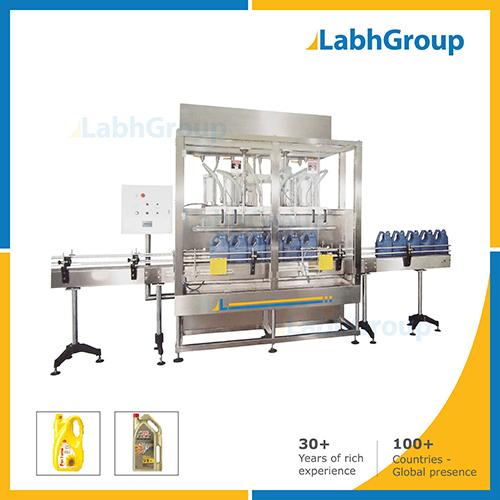 Edible Oil, Lubricant Oil Big Jar Filling Machine