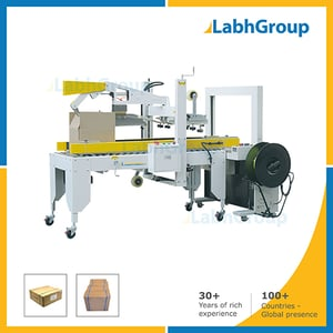 Combined Carton Flapping Sealing And Box Strapping Machine