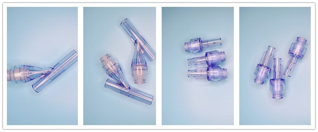 Inflation Device Iv Set Infusion Set Y Type Needle Free Needless Connector For Oxygen Concentrator