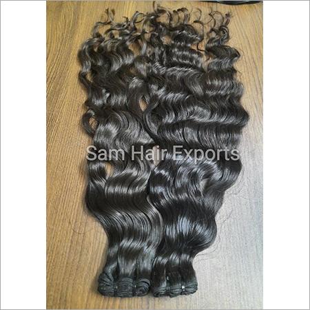 Deep Wavy Weft Indian Hair