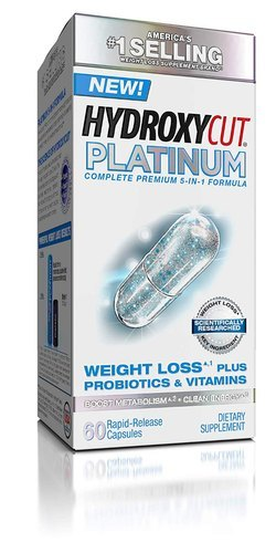 Hydroxycut Platinum With Probiotics And Vitamins And 60 Capsules