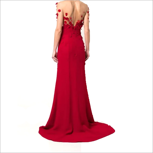 Ladies Fancy Red Gown