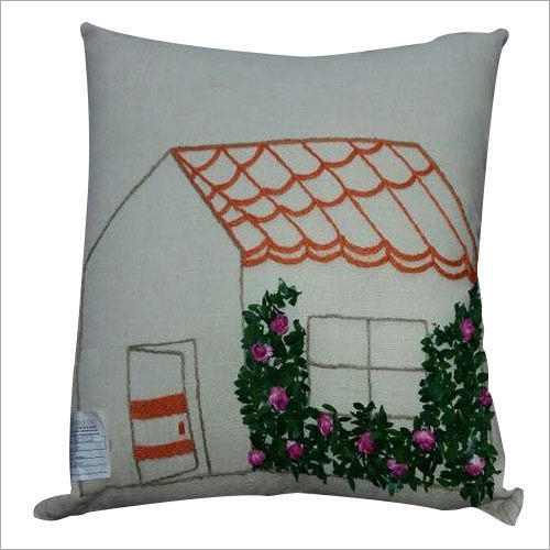 Cotton Embroidery Cushion Covers Fabric