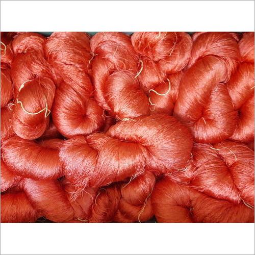 Orange Silk Yarn