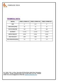 Mechanical Diesel Flowmeter