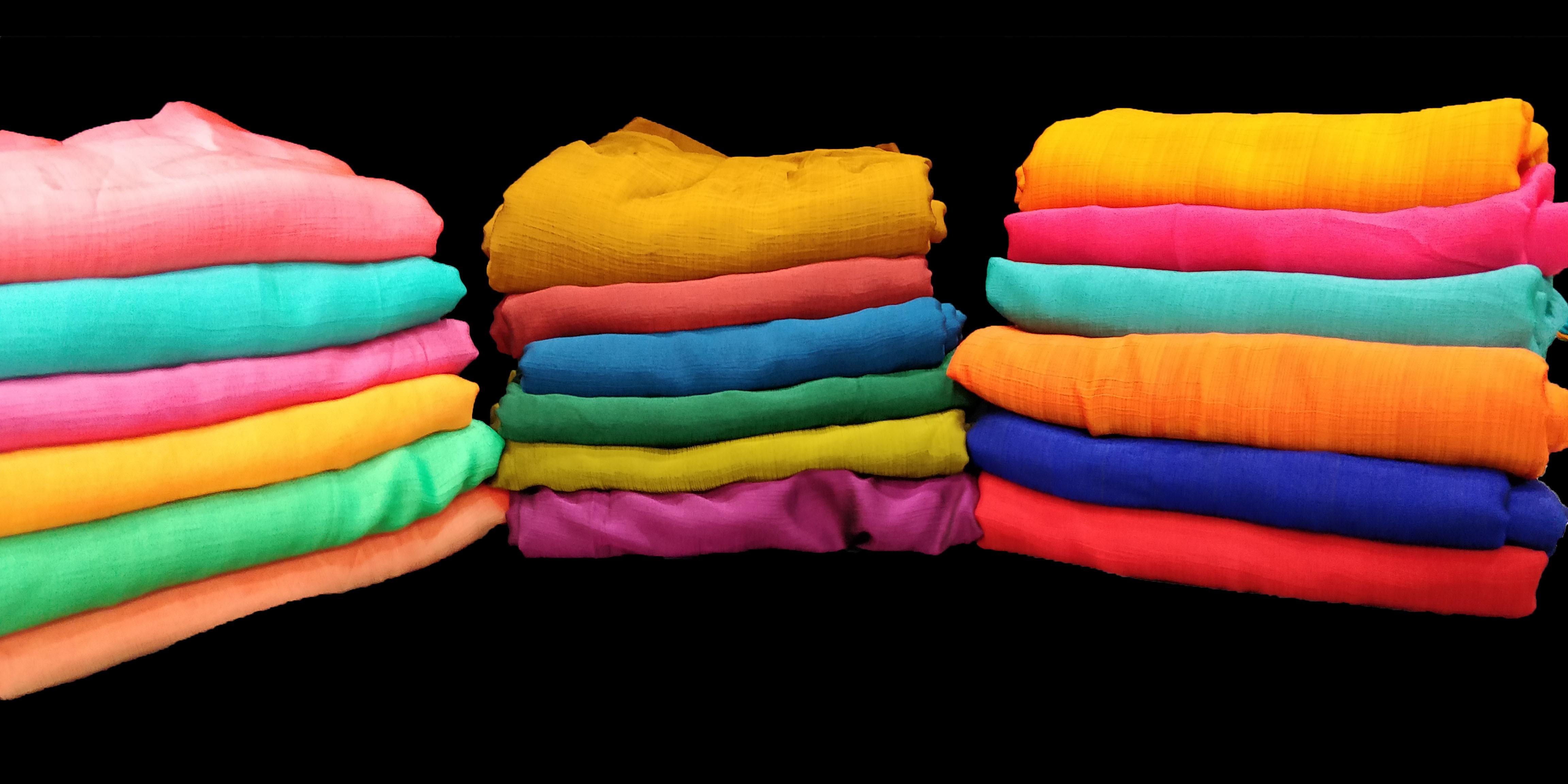 Plain Sahi Chiffon Fabric