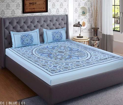 100% Cotton Plain Bedsheet ( 1 Bedsheet + 2 Pillows )