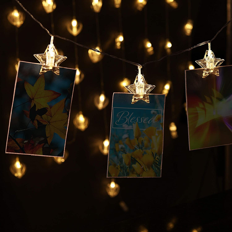 Star Shaped Photo Clip Lights