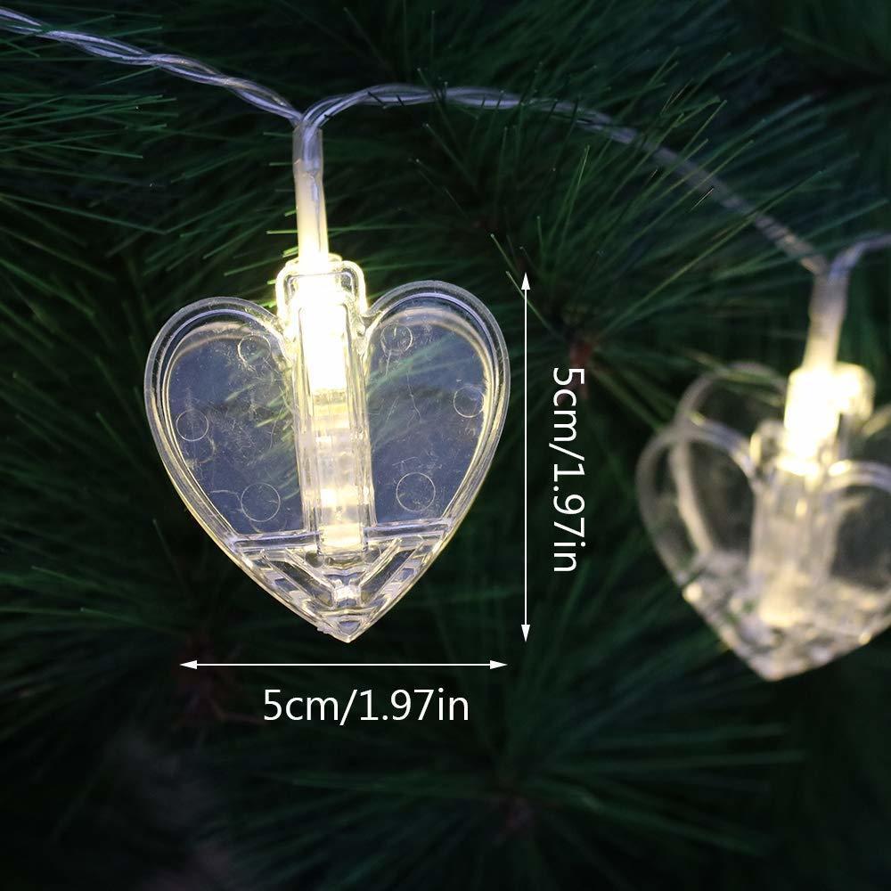 Heart Shape Photo Clip Lights